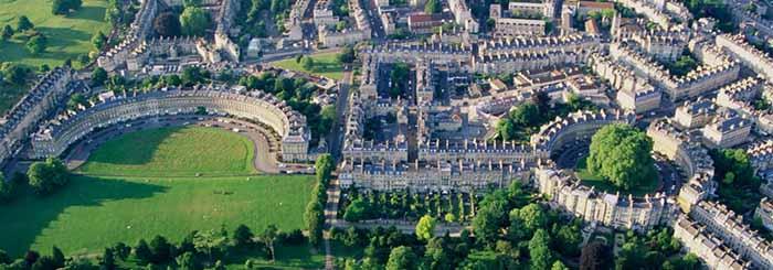 Royal Crescent e Bath Circus