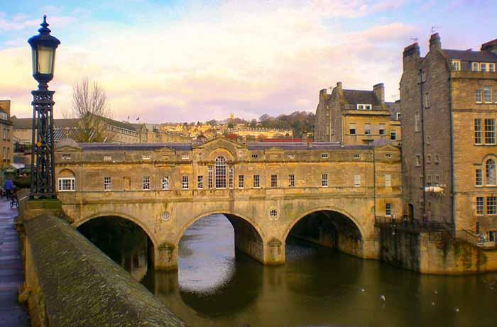 Pulteney Bridge, em Bath, Inglaterra