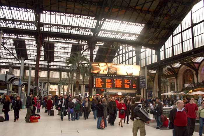 Gare de Lyon, em Paris, França