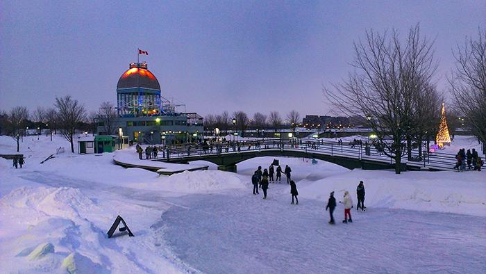 Estação de ski, em Montréal, Canadá