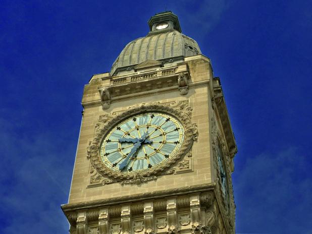 Relógio da Gare de Lyon, em Paris, França
