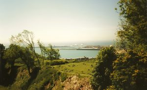 Porto de Dover visto do alto