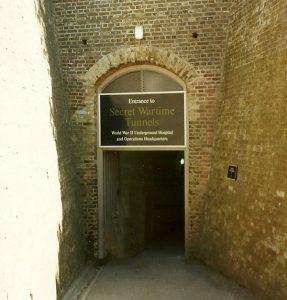 Entrada do túnel secreto