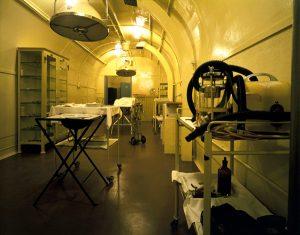 Uma das salas do hospital