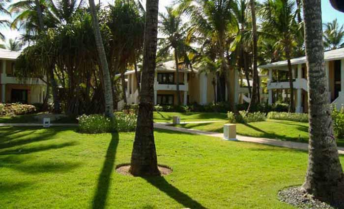 Os bangalôs do Bavaro Princess Hotel