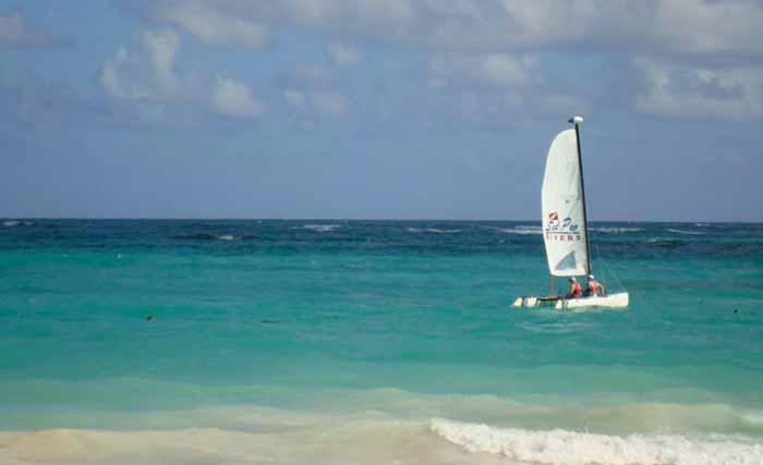 Mar do Caribe, em Punta Cana