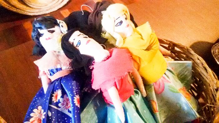 bonecas de pano, de todos os tamanhos - muito comuns nas feiras de Aracaju e do interior