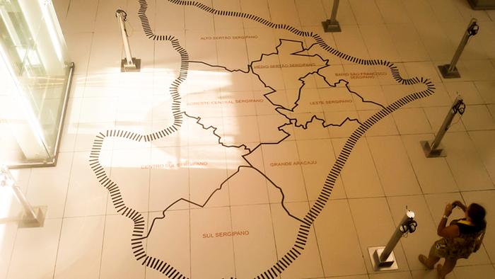 Mapa de Sergipe dividido em regiões