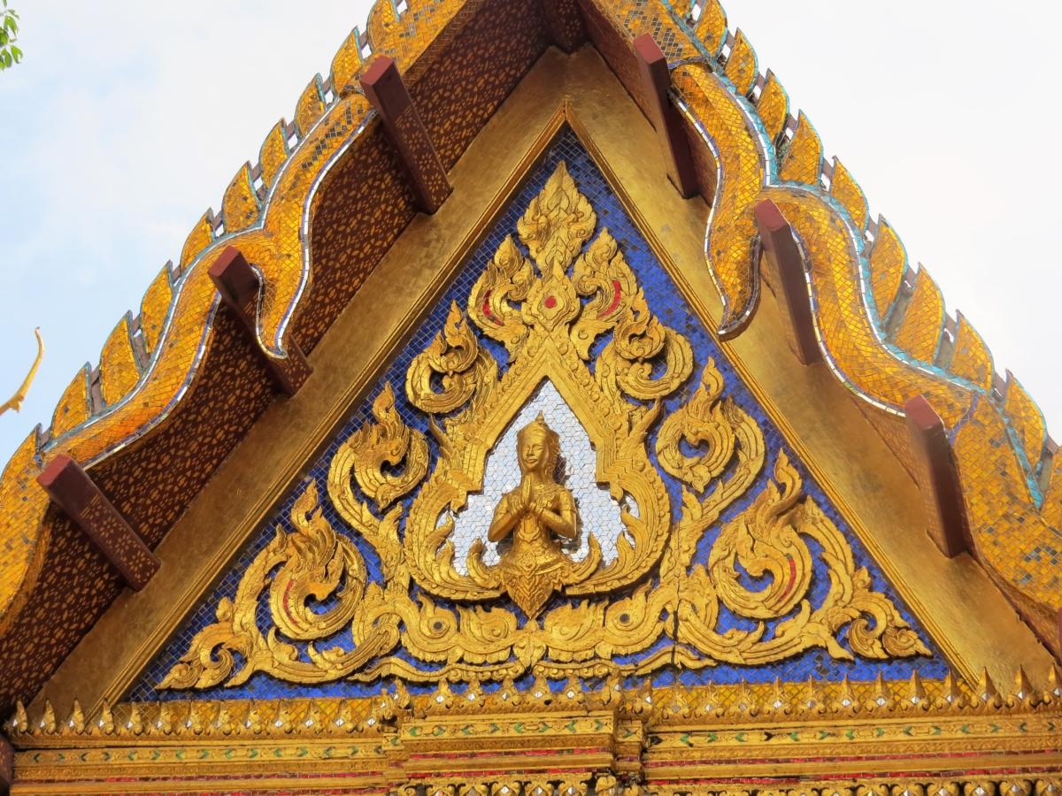 Detalhes do trabalho minucioso do Grand Palace