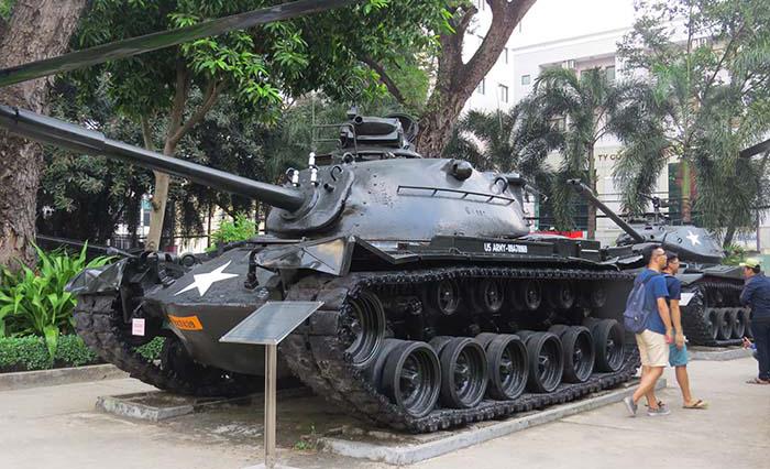 Museu-dos-Vestígios-de-Guerra-tanque M48-A3