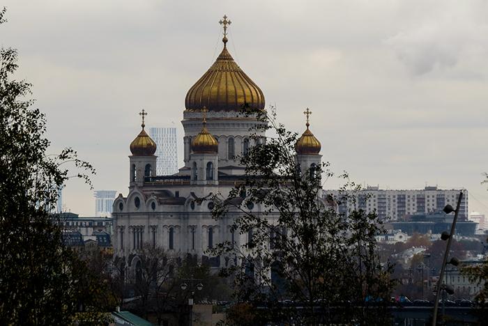 Igreja do Cristo Salvador, cujo interior é o mais bonito de todas as igrejas da Rússia
