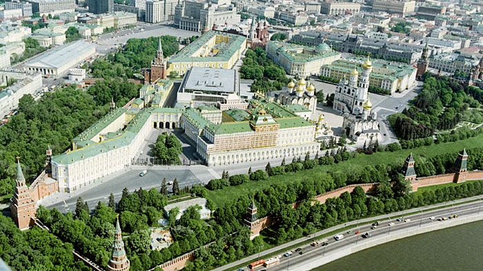 na foto de A. Savin, o Kremlin visto de cima