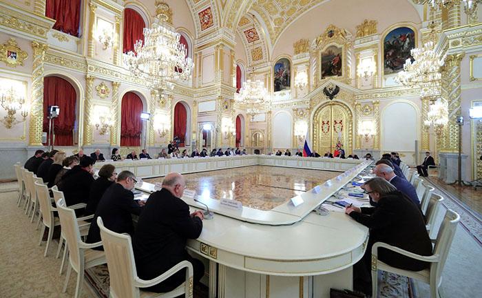 um dos incríveis salões para reuniões oficias - foto do site da presidência