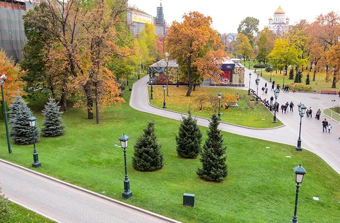 Em Moscou, o colorido dos jardins de Alexandre, em Moscou
