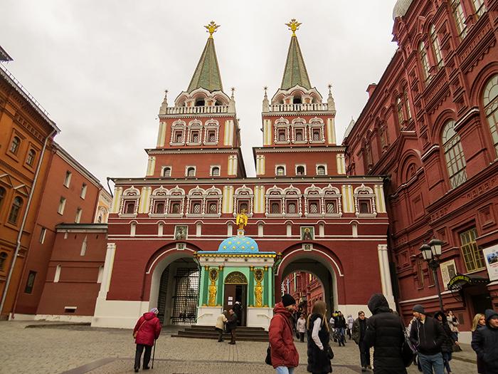 A Porta da Ressurreição, na Praça Vermelha