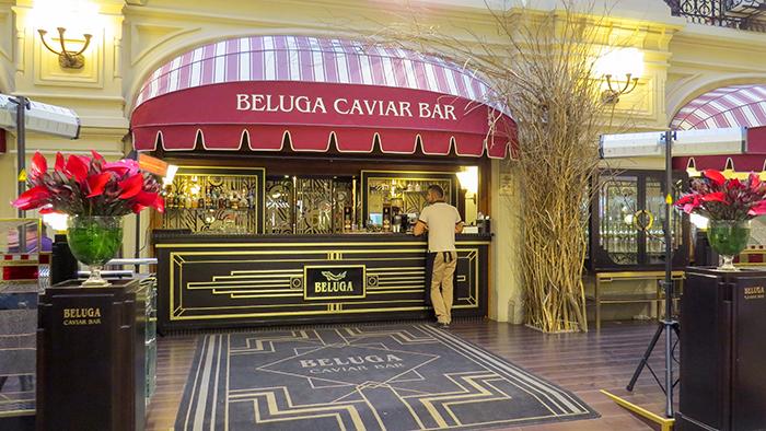 Praça Vermelha e Beluga, o melhor caviar russo