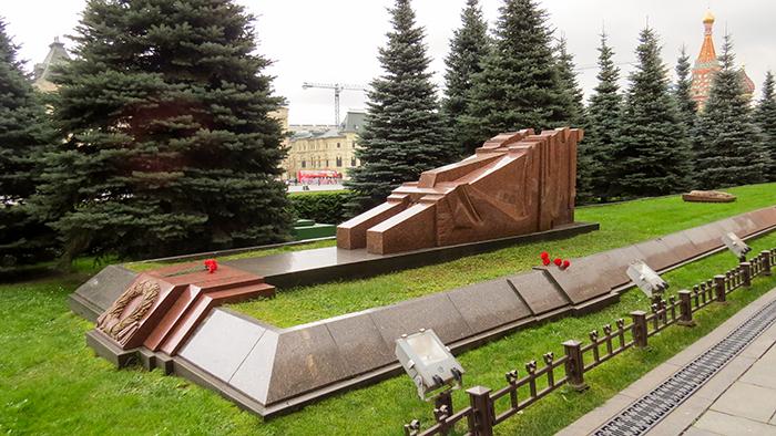 Túmulo de mortos em guerra, na Praça Vermelha