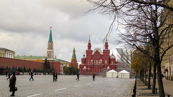 No extremo oposto da Praça Vermelha, o Museu Histórico