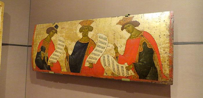 """Galeria Tretyakov e o quadro """"Os profetas - Daniel, David e Salomão"""""""