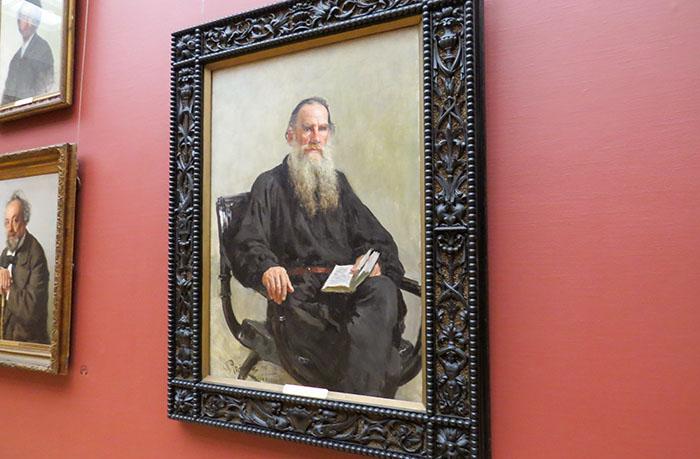 Galeria Tretyakov: Leo Tolstoy, de Ilya Efimovich Repin