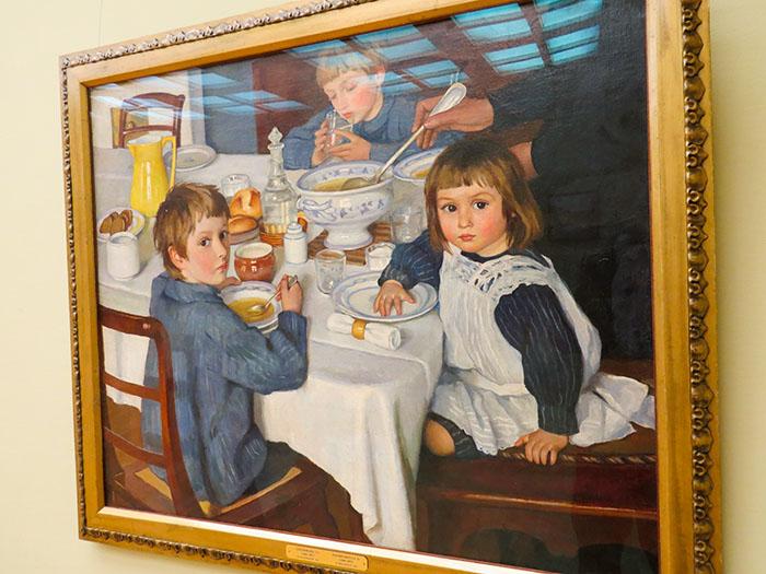 Galeria Tretyakov: O Desjejum, deZinaida Serebriakova - que eternizou o café da manhã dos filhos