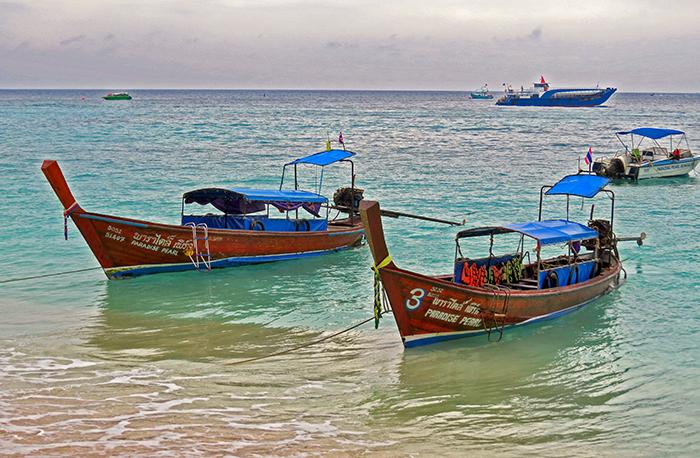 Em táxis boat estão em todos os lugares