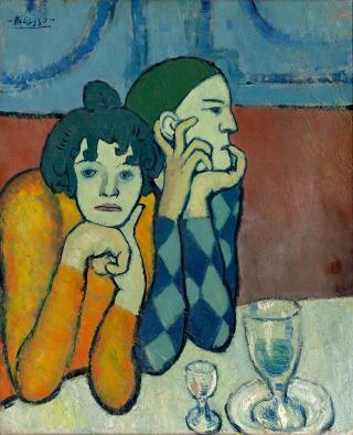 Arlequim e sua companheira, de Pablo Picasso