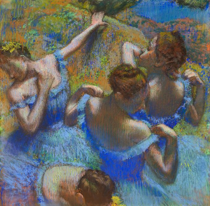 As Dançarinas Azuis, de Degas
