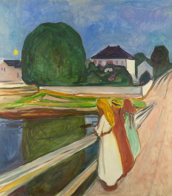 Meninas na Ponte, de Edvard Munch