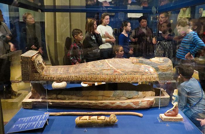 Sarcófago de um egípcio mumificado