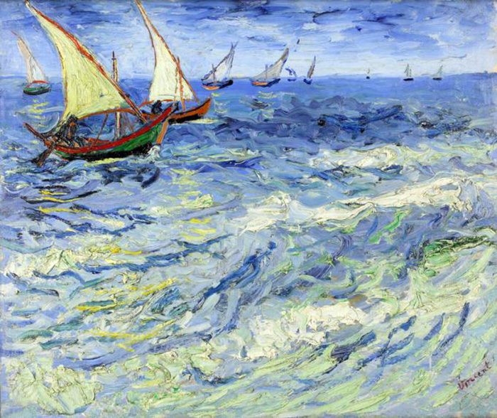 O Mar em Saint Marie, de Vincent Van Gogh