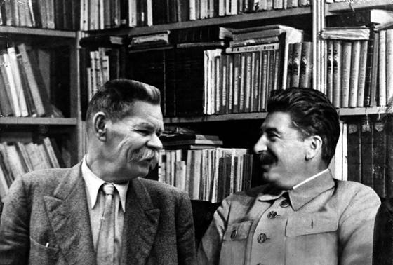 Gorki e Estalin, num dos muito encontros de 1930 a 1936