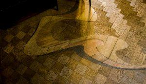 A criatividade do arquiteto era do teto ao piso