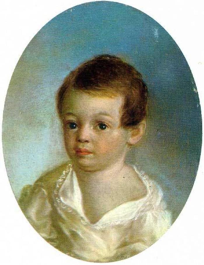 Pushkin aos 3 anos, por Xavier de Maistre 1802