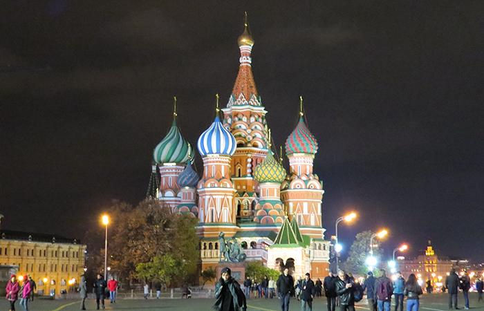 Catedral de São Basílio, na Praça Vermelha, centro de Moscou