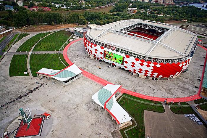 Copa do Mundo no Spartak Arena, em Moscou.