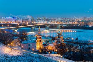 Nijni Novgorod, no inverno. Foto: Russiatrek