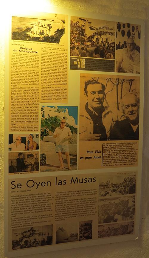 Jornal noticiando a presença de Vinícius na Casa Pueblo