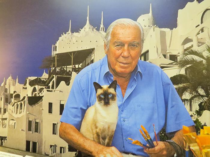 O artista plástico uruguaio Carlos Vilaró
