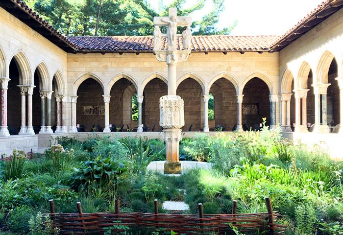 Um pedacinho dos jardins do museu
