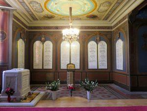 A capela de Santa Catarina com os restos mortais dos Romanov