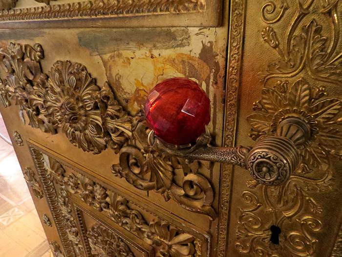 maçaneta de uma das portas do Hermitage