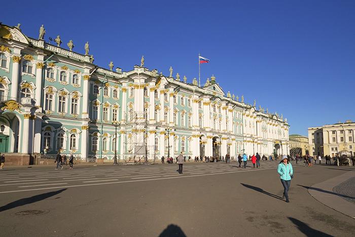 O Palácio de Inverno, residência dos czares