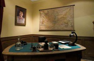 A mesa onde Stalin trabalhava