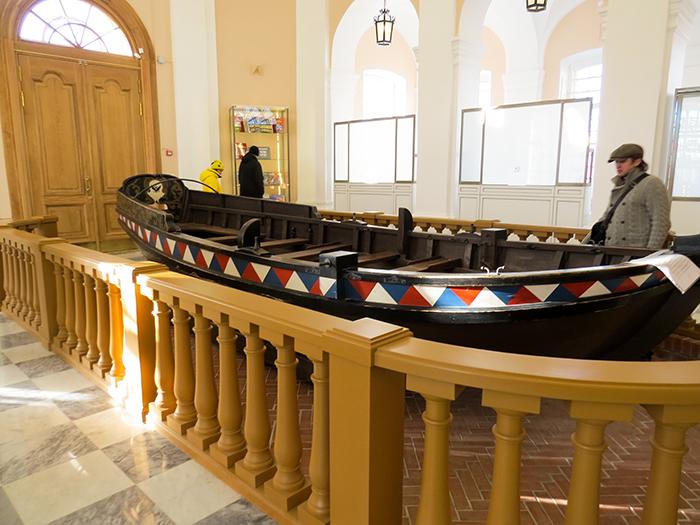 A réplica do barco de Pedro