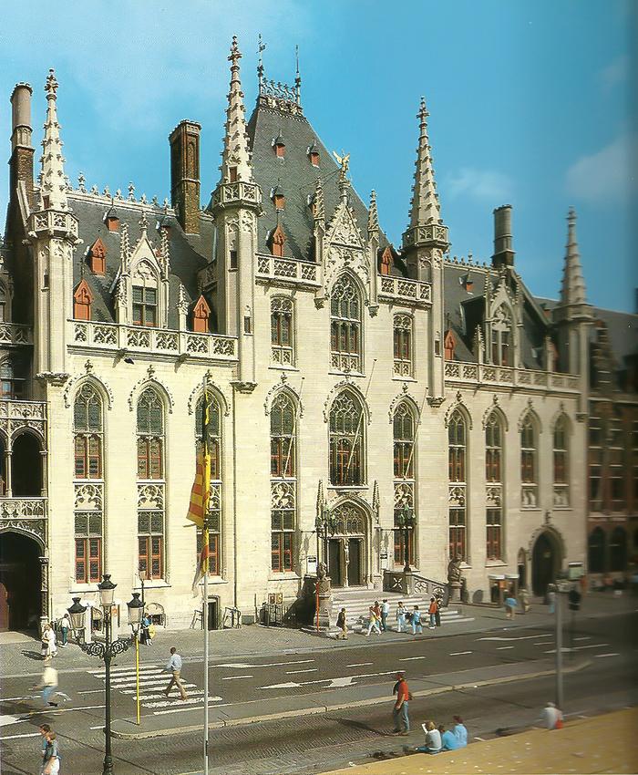 A prefeitura, de onde Bruges é governada há 600 anos.