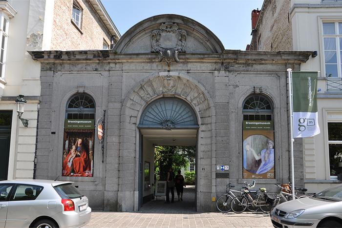 Groeninge Museum na romântica Bruges