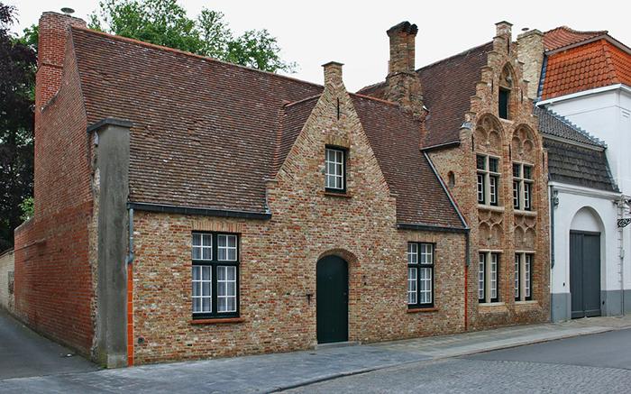 arquitetura da romântica cidade belga: Bruges