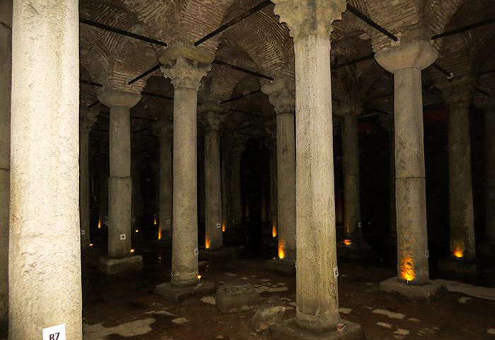 Cisterna da Basílica, em Istambul