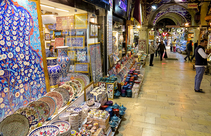 Grand Bazar, em Istambul, Turquia